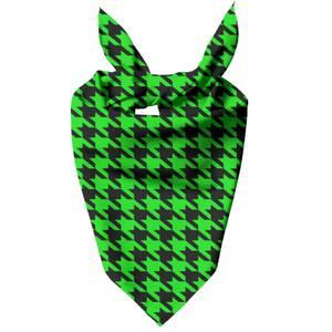 Green Dogtooth Dog Bandana