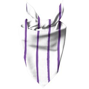 Purple Stripes Dog Bandana