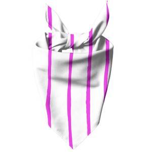 Pink Stripes Dog Bandana