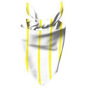 Yellow Stripes Dog Bandana