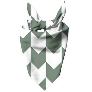 Green And White Chevrons Dog Bandana