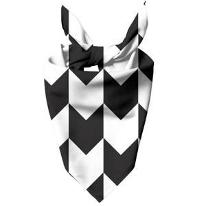 Black And White Chevrons Dog Bandana