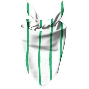 Green Stripes Dog Bandana