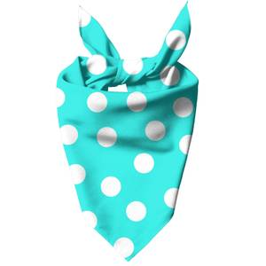 Turquoise Polka Dots Dog Bandana