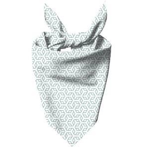 Linear Hexagon Dog Bandana