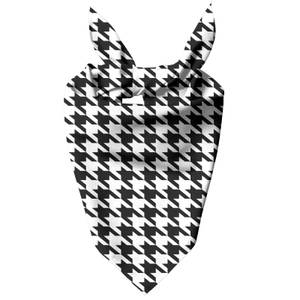 Monochrome Dogtooth Dog Bandana