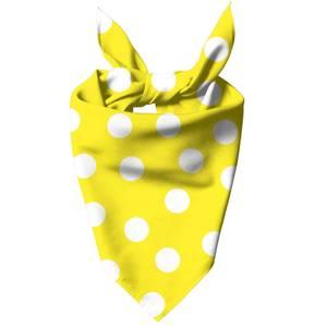 Yellow Polka Dots Dog Bandana