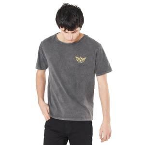 T-Shirt Noir Délavé Link Unisexe The Legend of Zelda