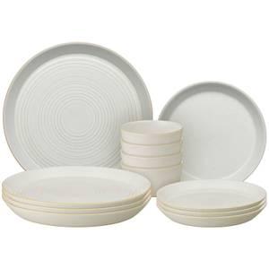 Denby Impression Cream 12 Piece Dining Set