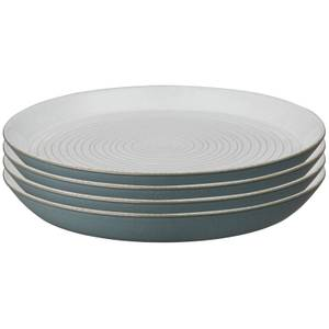 Denby Impression Charcoal Spiral Dinner Plates (Set of 4)