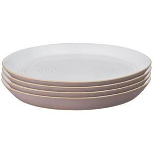 Denby Impression Pink Spiral Dinner Plates (Set of 4)