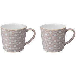 Denby Impression Pink Accent Large Mug (Set of 2)