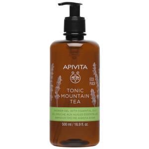 APIVITA Tonic Mountain Tea Shower Gel with Essential Oils 16.9 fl.oz