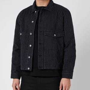 YMC Men's Garment Dye Pinstripe Twill Pinkley Jacket - Black
