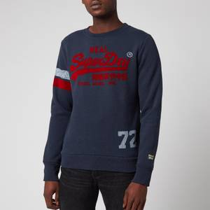 Superdry Men's Varsity Crewneck Sweatshirt - Downhill Navy Marl