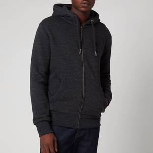 Superdry Men's Orange Label Classic Zip Hoodie - Black Snow Heather