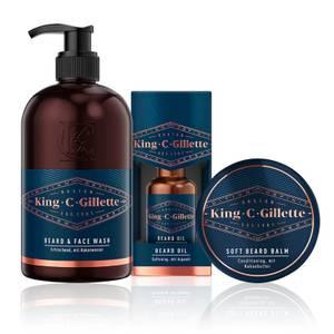 King C. Gillette Bartpflege Set Waschen & Pflegen