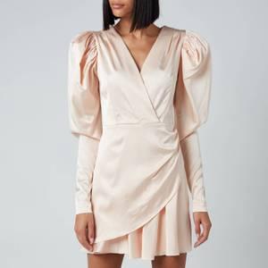 ROTATE Birger Christensen Women's Aiken Dress - Pastel Rose Tan