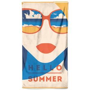 Hello Summer Shade Beach Towel