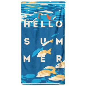 Swimming With The Fishes Beach Towel