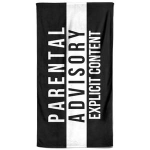 Parental Advisory Explicit Content Beach Towel
