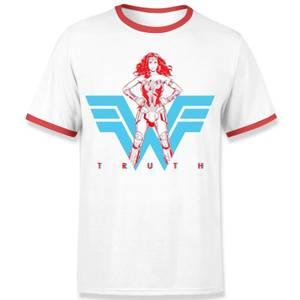 Wonder Woman Truth Unisex Ringer T-Shirt - White