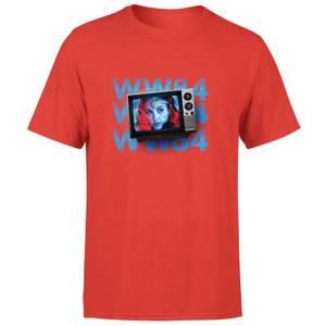 Wonder Woman WW84 Retro TV Men's T-Shirt - Red