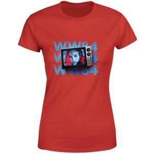 Wonder Woman WW84 Retro TV Women's T-Shirt - Red