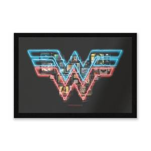 Felpudo Wonder Woman Neon Sign