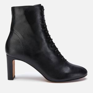 Whistles Women's Dahlia Leather Lace Up Heeled Boots - Black