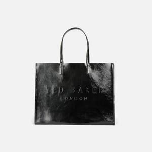 Ted Baker Women's Aevacon East/West Crinkle Patent Embossed Crosshatch Icon Bag - Black