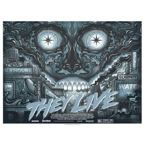 They Live Variant Screenprint by Drew Millward