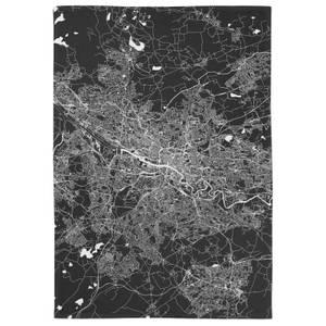 Negative Glasgow City Map Tea Towel