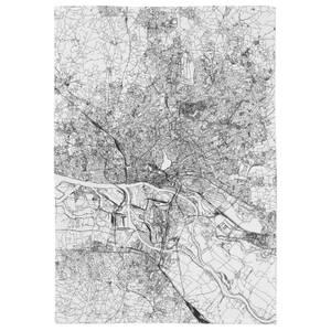 Hamburg City Map Tea Towel