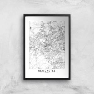 Newcastle City Map Giclee Art Print