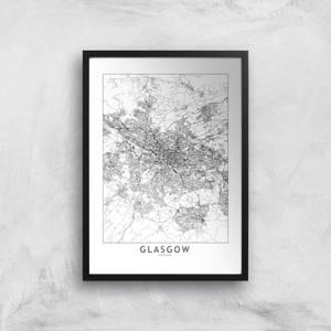 Glasgow City Map Giclee Art Print
