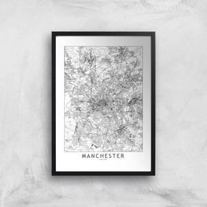 Manchester City Map Giclee Art Print
