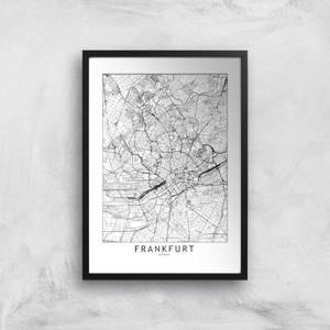 Frankfurt City Map Giclee Art Print