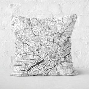 Frankfurt City Map Square Cushion