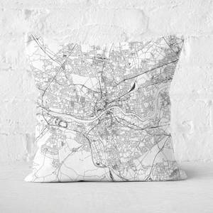 Newcastle City Map Square Cushion