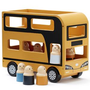 Kids Concept Double Decker Bus - Yellow