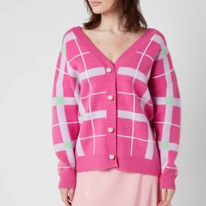 Olivia Rubin Women's Cecily Cardigan - Pink Check