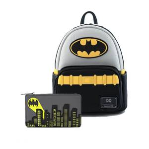 Loungefly Dc Comics Vintage Batman Cosplay Mini Backpack and Wallet Set