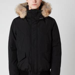 Woolrich Men's Polar Fur Collar Jacket - Black