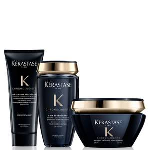 Kérastase Chronologiste Youth Revitalising Pre-Shampoo, Shampoo and Masque Bundle
