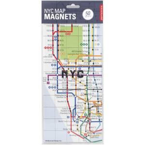 Kikkerland New York Map Magnets