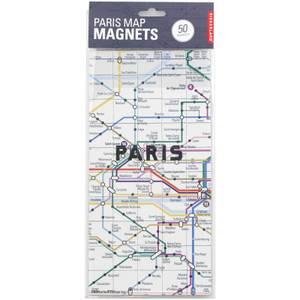Kikkerland Paris Map Magnets