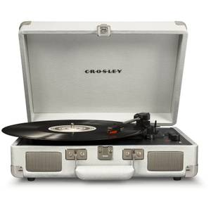 Cruiser Deluxe Portable Turntable (White Sand)