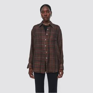 Our Legacy Women's Lend Shirt - Orange/Green Check