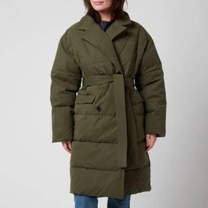 Whistles Women's Trench Puffer Jacket - Khaki
